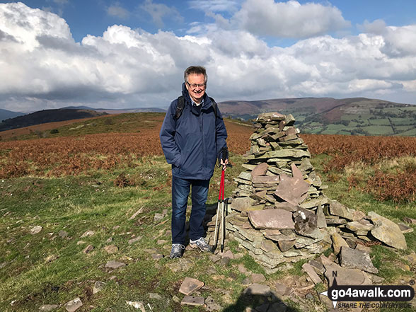 The cairn on the summit of Bryn Arw