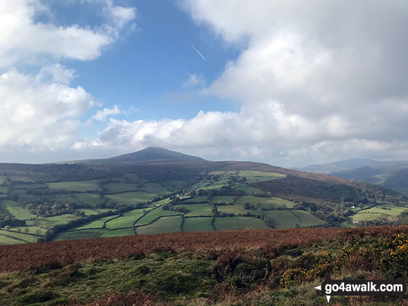 The view from the summit of Bryn Arw