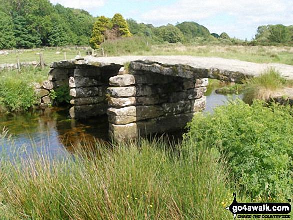 Stone clapper bridge at Postbridge