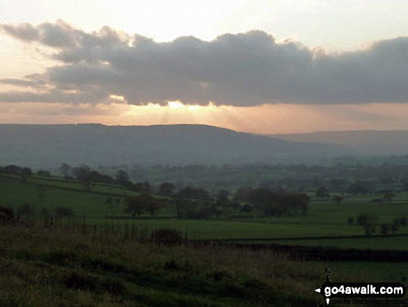 The view from Armscliffe Crag at sunset