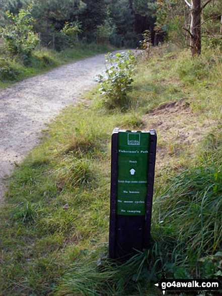 The Fisherman's Path through Ainsdale Nature Reserve. Walk route map me109 Ainsdale Nature Reserve and Coast from Ainsdale-on-Sea photo