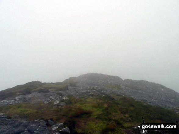 A very poor view from the top of An Sgurr (Eigg) on the Isle of Eigg