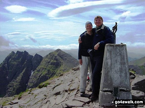 Me and my husband Michael on Bidein a'Ghlas Thuill (An Teallach)