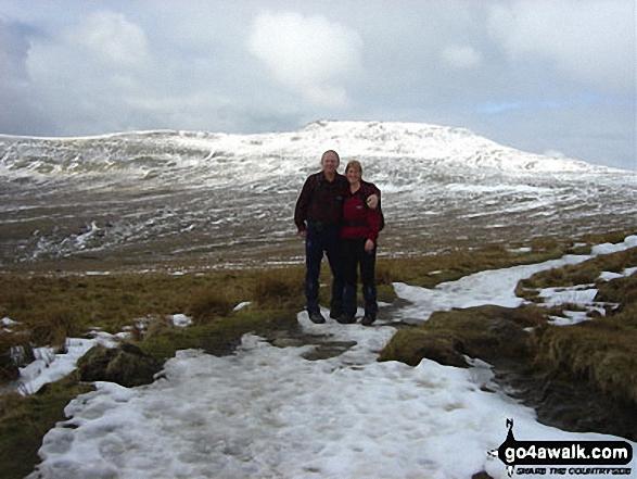 Walk ny191 Ingleborough and Raven Scar from Ingleton - Climbing Ingleborough