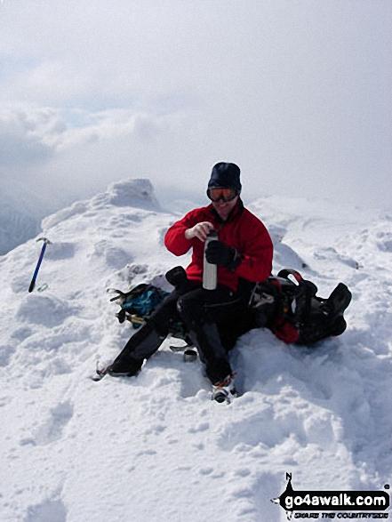 Graham Turner on Buachaille Etive Mor in Glencoe Highland Scotland