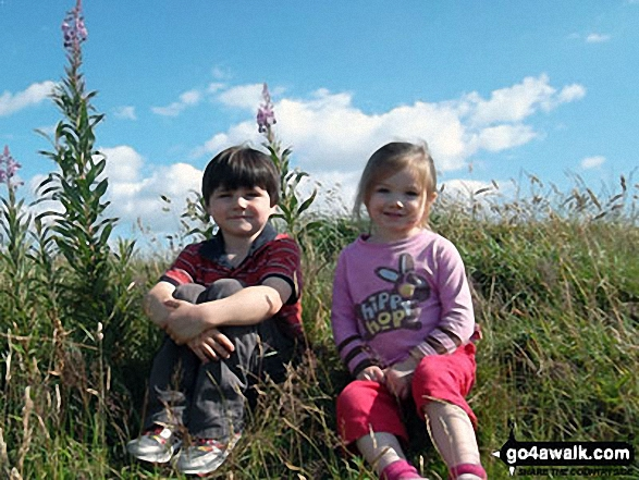 Scarlett and Jem on top of The Chevin (Otley Chevin)