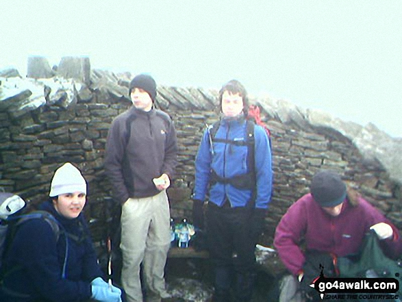 Me, Paddy B, Mike B & Fintan W on Whernside walk The Yorkshire Dales North Yorkshire England walks