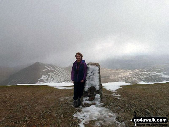 Sarah on top of Helvellyn