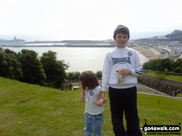 My daughter Sophie and Jordan at Leeds Castle overlooking the harbour at Dover