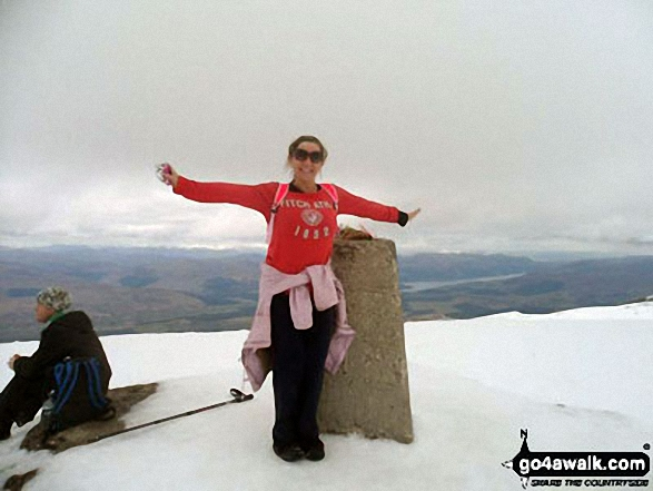 Me at the top of Ben Nevis 2 weeks ago!