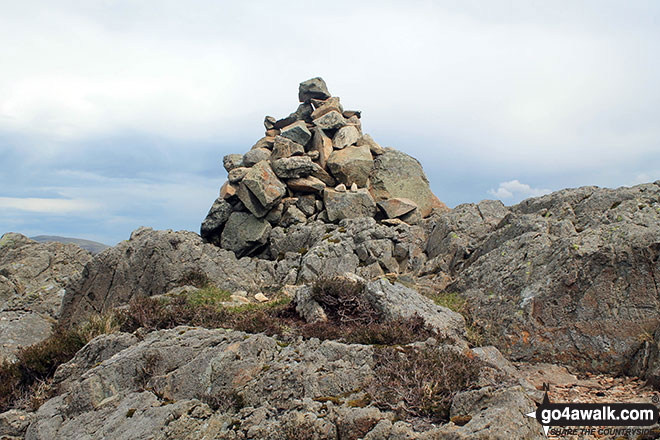 The summit cairn on Great Crag