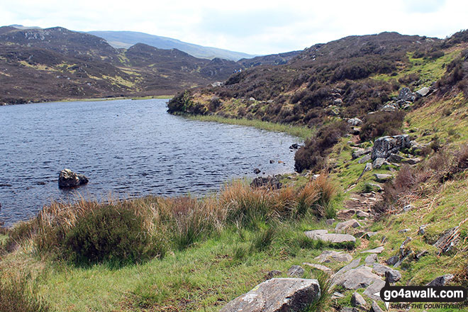 The path beside Dock Tarn (Watendlath Fell)