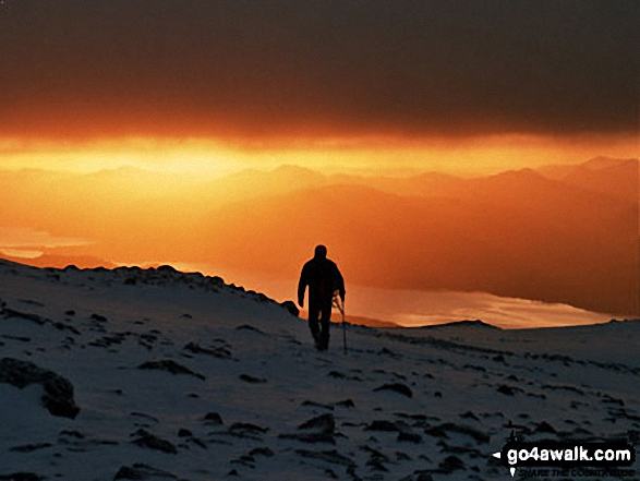 My mate Pete on Ben Nevis. Walk route map h100 Ben Nevis via The Tourist Path from Achintee, Fort William photo