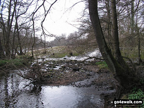The River Derwent at Curbar. Walk route map d139 Froggatt Edge, Curbar Edge, The Derwent Valley and Grindleford from Hay Wood, Longshaw photo