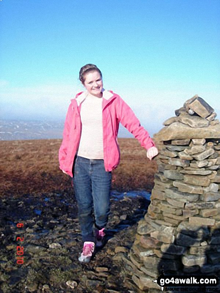 On the summit of Buckden Pike My daughter Celene bagging her first Hewitt.