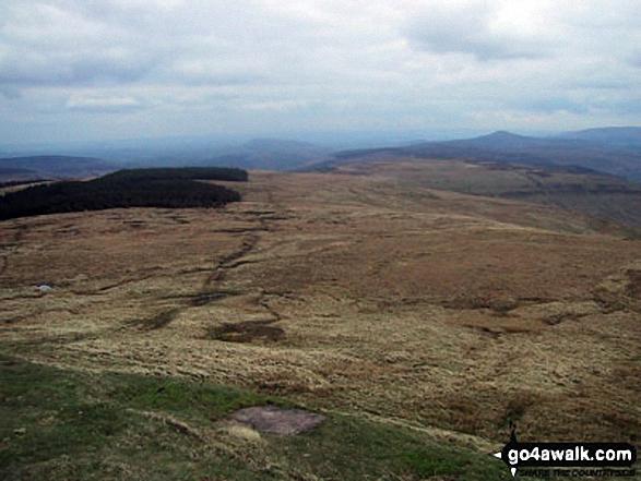 The Pen y Gadair Fawr ridge