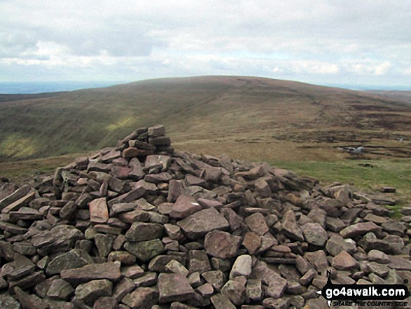 Waun Fach from the summit cairn on Pen y Gadair Fawr