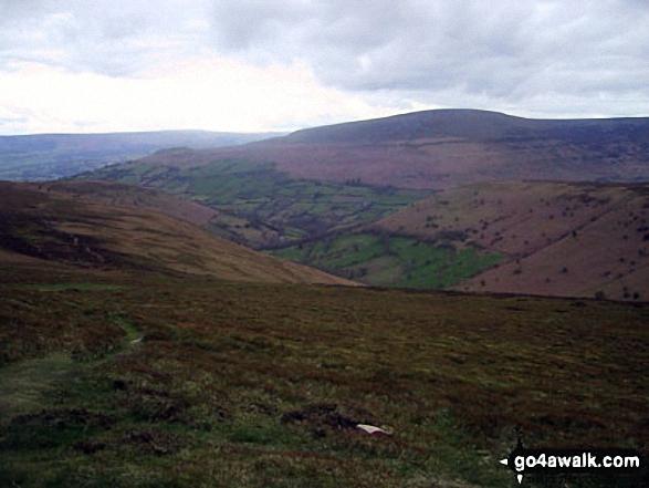 The Grwyne Fawr valley from Crug Mawr