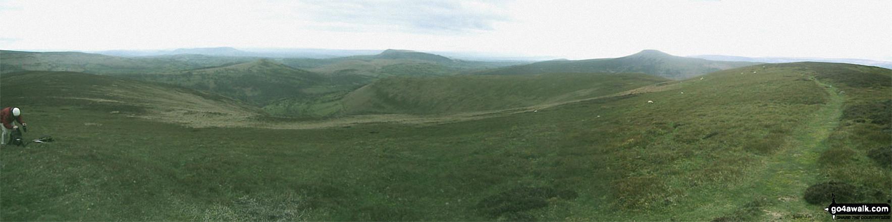 *Waun Fach and Pen y Gadair Fawr from the Pen Twyn Mawr ridge