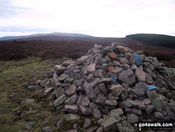Large cairn on the Pen Twyn Mawr ridge