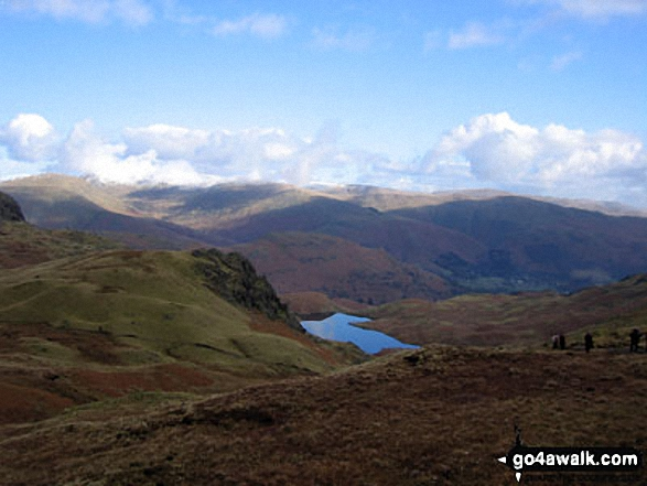 Easedale from the summit of Sergeant Man
