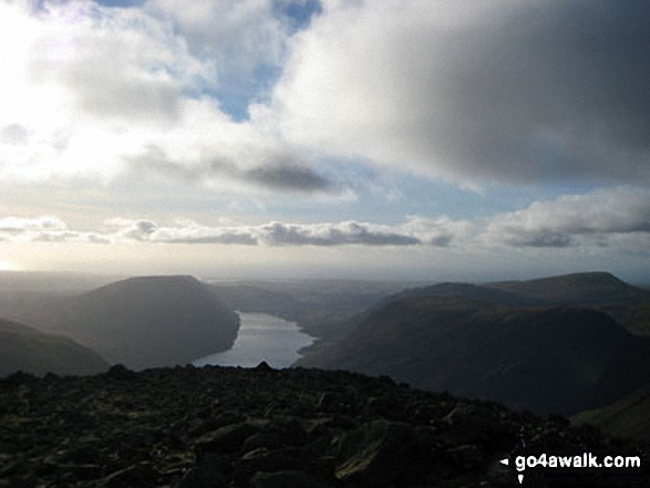 Wast Water from teh summit of Great Gable