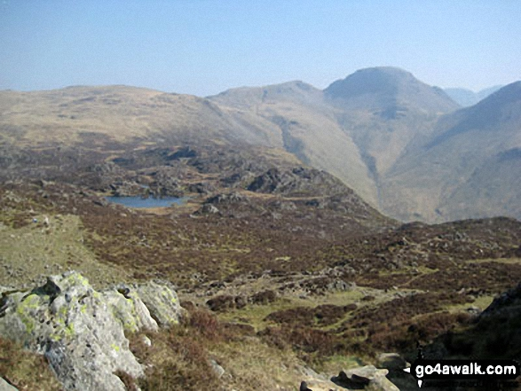 Innominate Tarn with Great Gable (top right) from Hay Stacks (Haystacks)