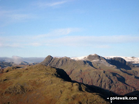 Pike of Blisco (Pike o' Blisco), Pavey Ark and the Langdale Pikes from Wetherlam Edge