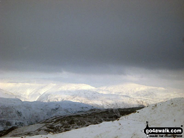 The Helvellyn Massiff under a deep blanket of snow from the lower slopes<br>of Pike of Blisco (Pike o' Blisco)