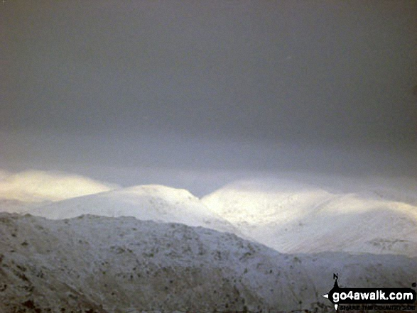 Wetherlam, Swirl How and Little Carrs under a deep blanket of snow from<br>Pike of Blisco (Pike o' Blisco)