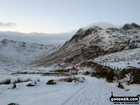 Great Langdale under a deep snow