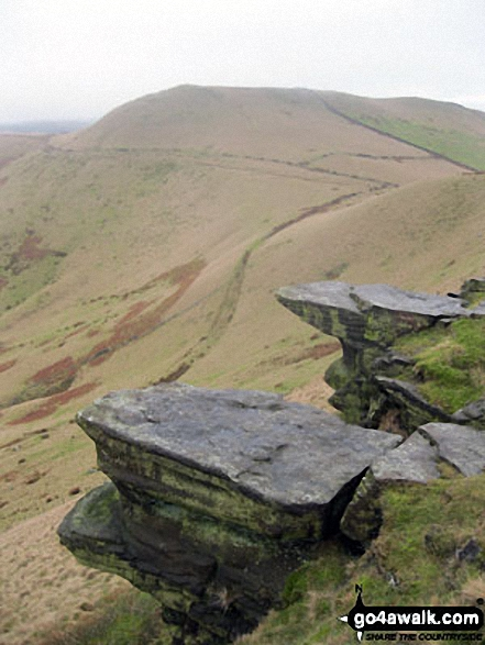 Walk Mount Famine walking UK Mountains in The Dark Peak Area The Peak District National Park Derbyshire    England