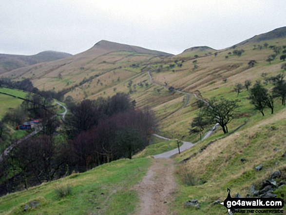 South Head (Hayfield) and Mount Famine from the Pennine Bridleway near Elle Bank