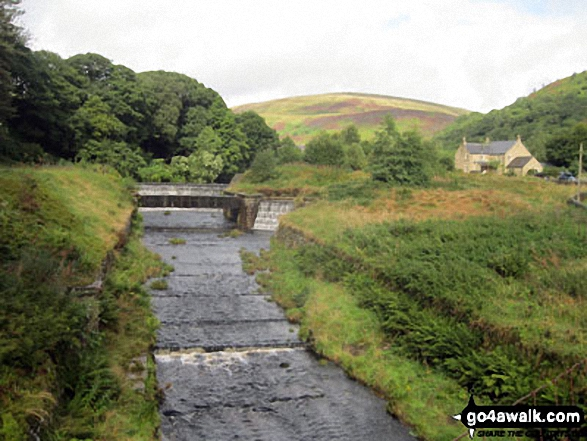 Crowden Brook with Bareholmes Moss beyond from Crowden