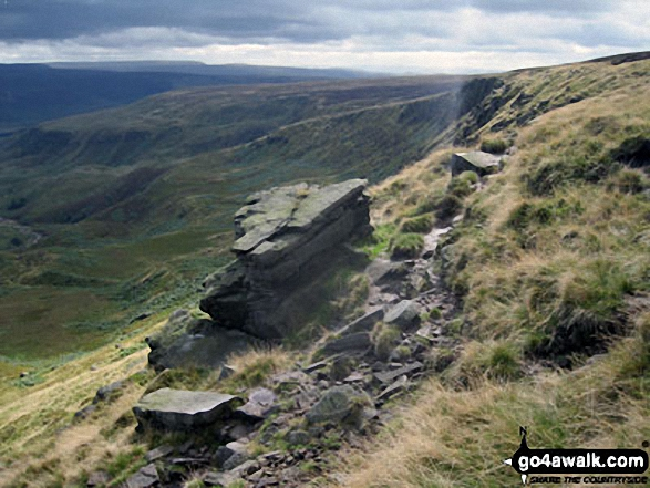 The Pennine Way on Black Chew Head (Laddow Rocks)