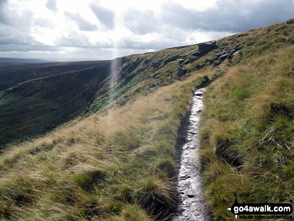 Looking back along The Pennine Way to Black Chew Head (Laddow Rocks)