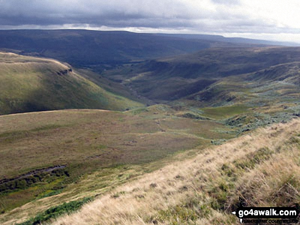 The Crowden valley from The Pennine Way on Black Chew Head (Laddow Rocks)