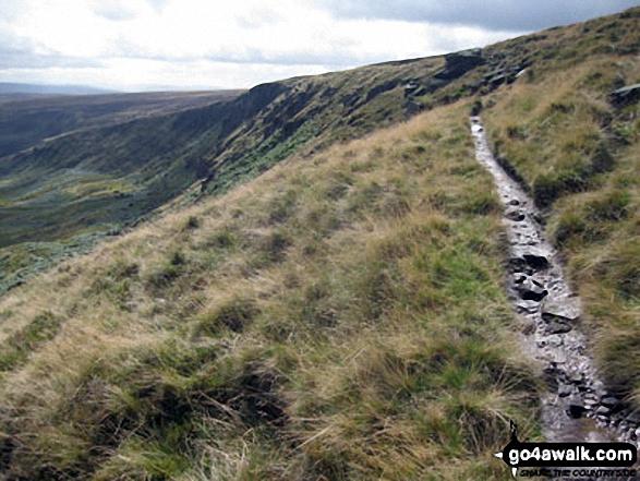 The Pennine Way north of  Black Chew Head (Laddow Rocks)