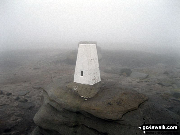 Kinder Low (Kinder Scout) trig point