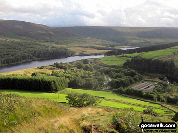 Crowden and Torside Reservoir from Hey Edge