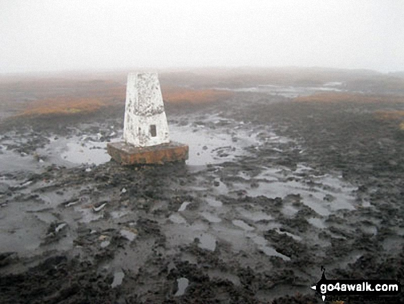 Brown Knoll (Edale) trig point