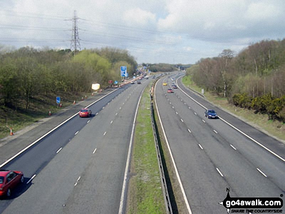 M56 Motorway near Ryecroft Farm