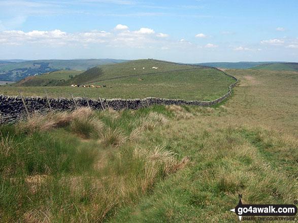 Walk d126 Great Hucklow, Bretton, Abney Clough and Burton Bole End from Bradwell - Crossing Abney Moor