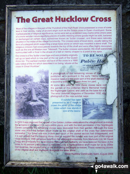 The Great Hucklow Cross Information Board