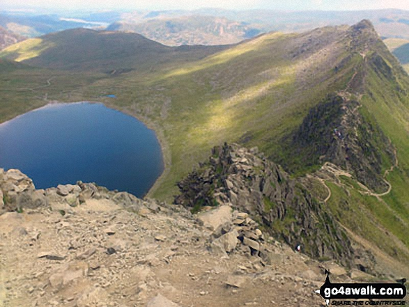 Red Tarn (Helvellyn) and Striding Edge in all it's glory from Helvellyn