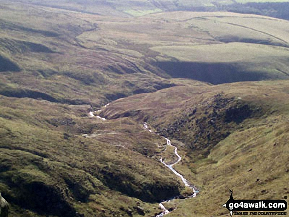 The River Kinder from Kinder Downfall