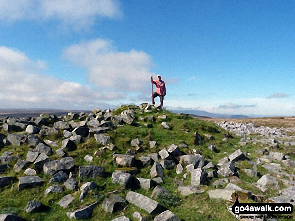 My partner, Dave, doing his Shackleton impression on Mynydd Llangatwg We were so lucky with the weather!