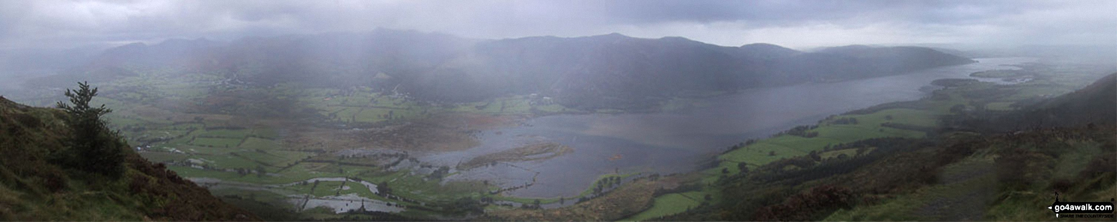 *Bassenthwaite Lake from Dodd (Skiddaw)