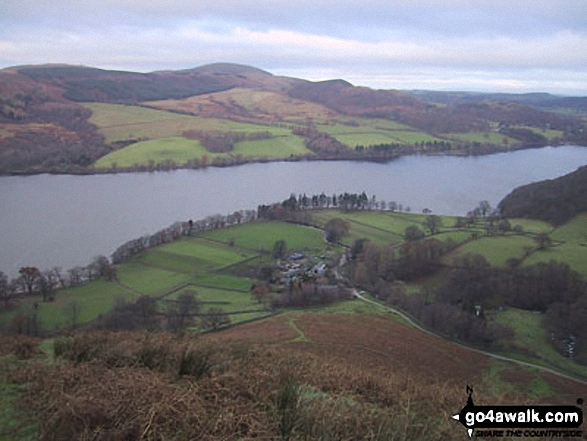 Sandwick and Ullswater from High Dodd (Sleet Fell). Walk route map c304 Beda Head and Place Fell from Howtown photo