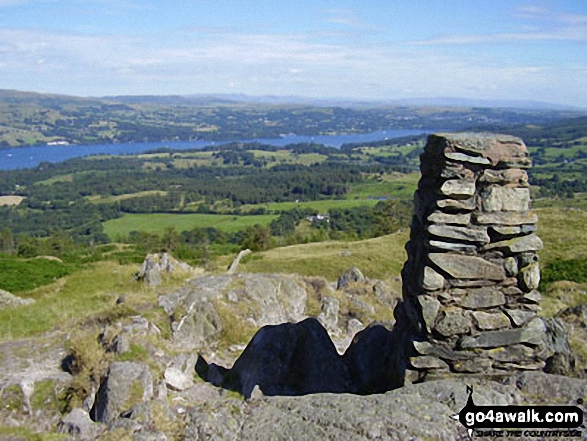 Lake Windermere from Black Fell (Black Crag) summit